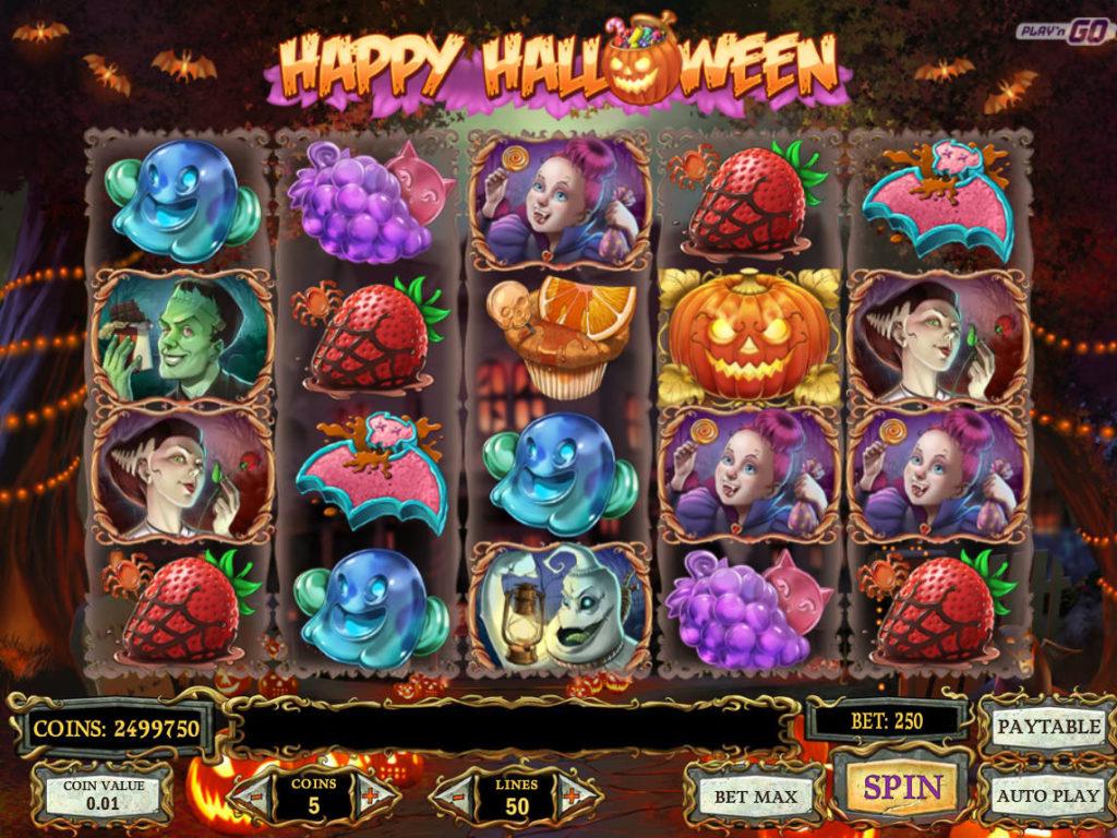 Casino automat Happy Halloween bez vkladu