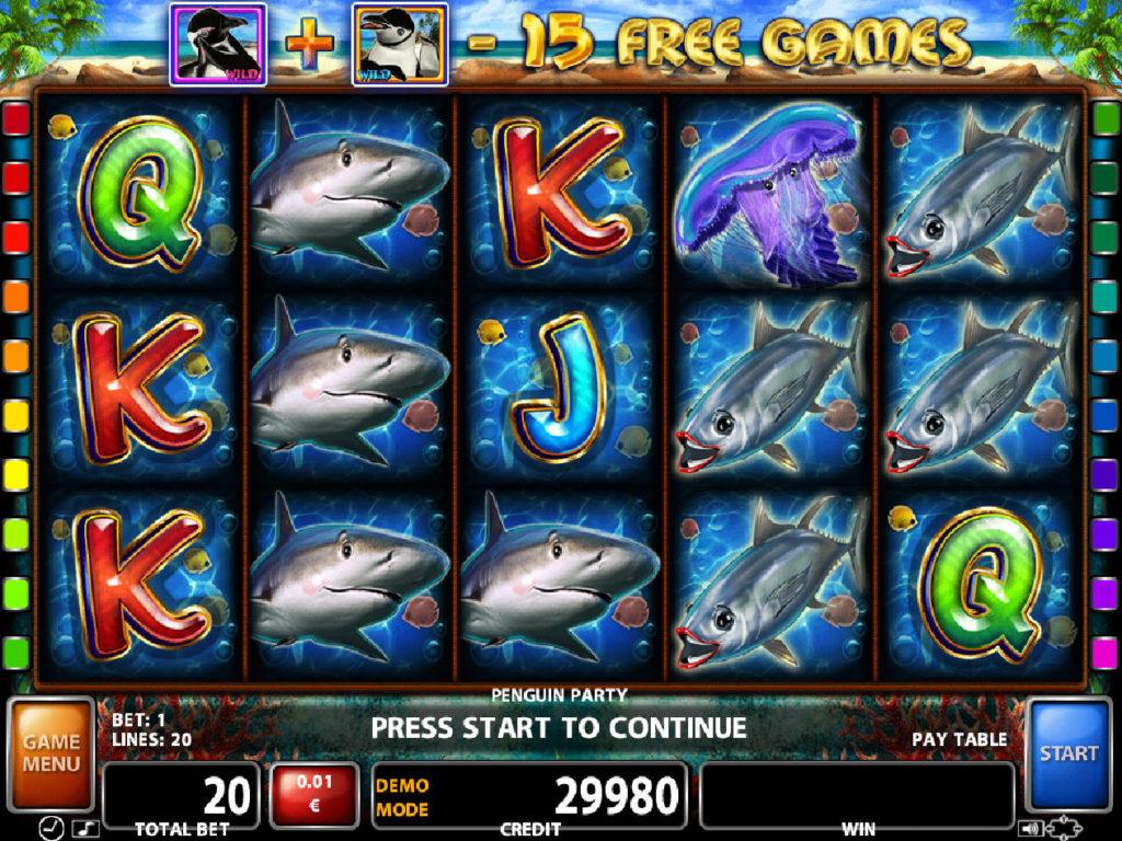 Casino automat Penguin Party bez registrace