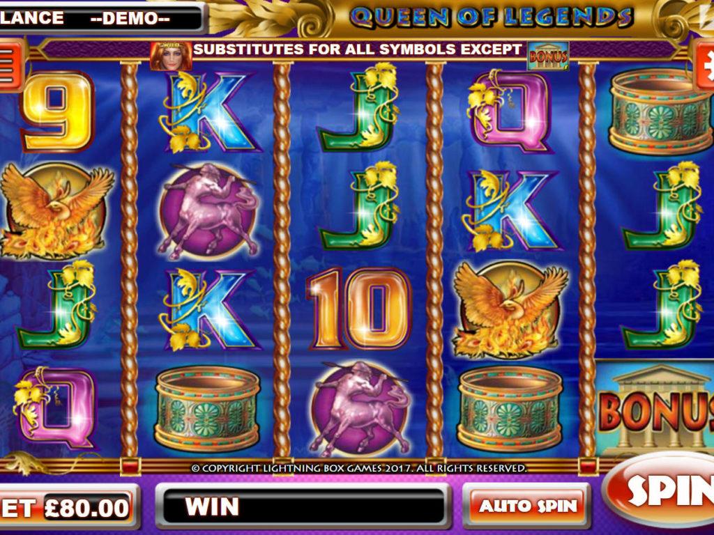 Obrázek online casino automatu Queen of Legends