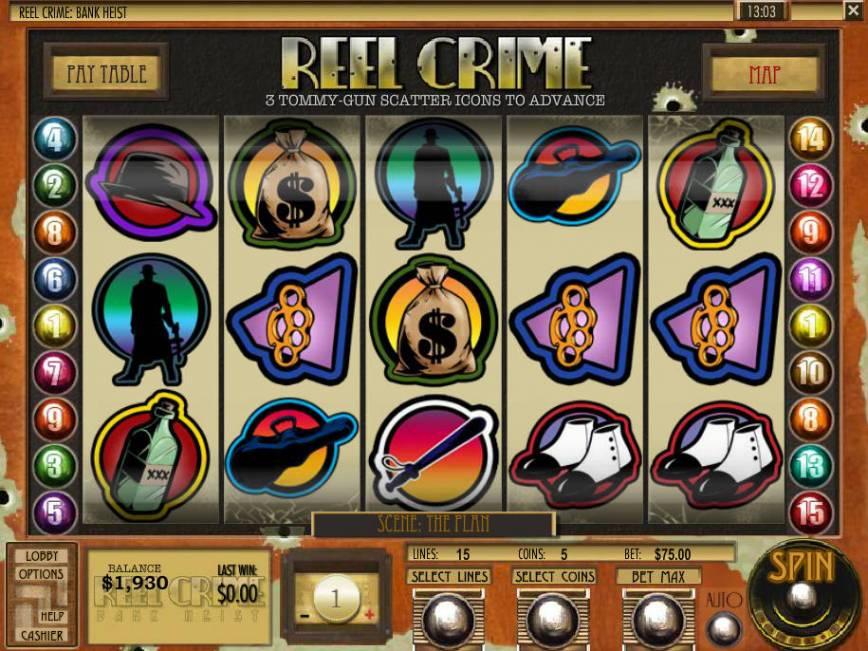 Zábavný casino automat Reel Crime: Bank Heist