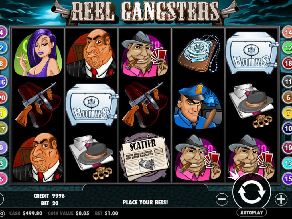 Casino automat Reel Gangsters pro zábavu