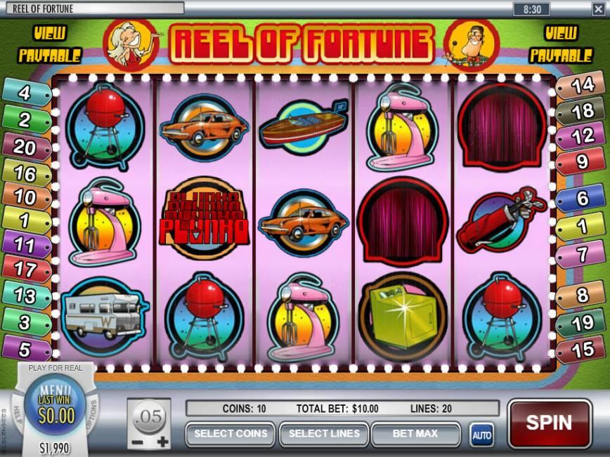 Zahrajte si casino automat Reel of Fortune