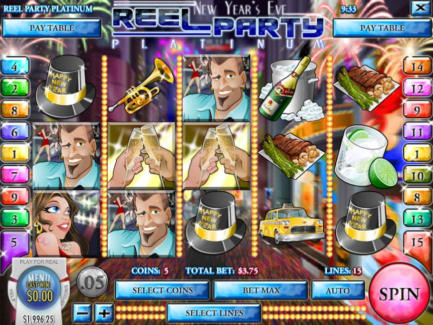 Obrázek z casino automatu Reel Party Platinum