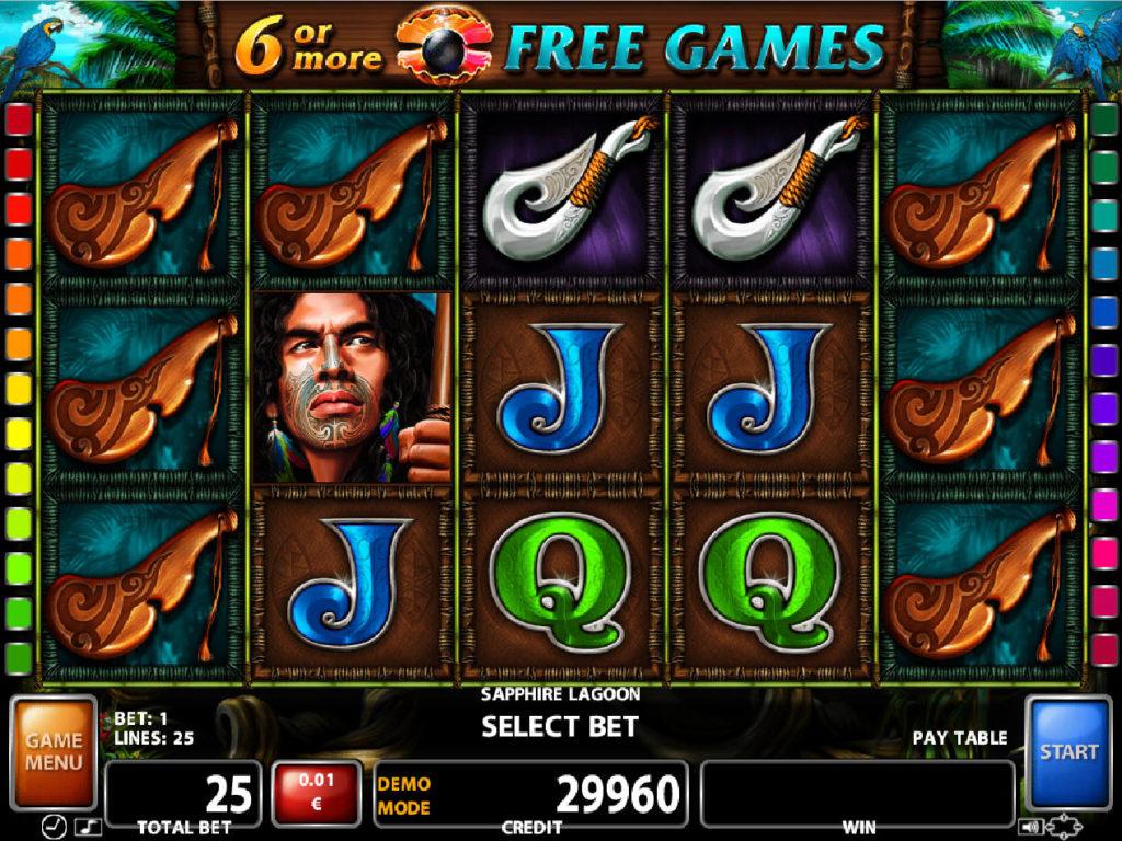 Roztočte casino automat Sapphire Lagoon online