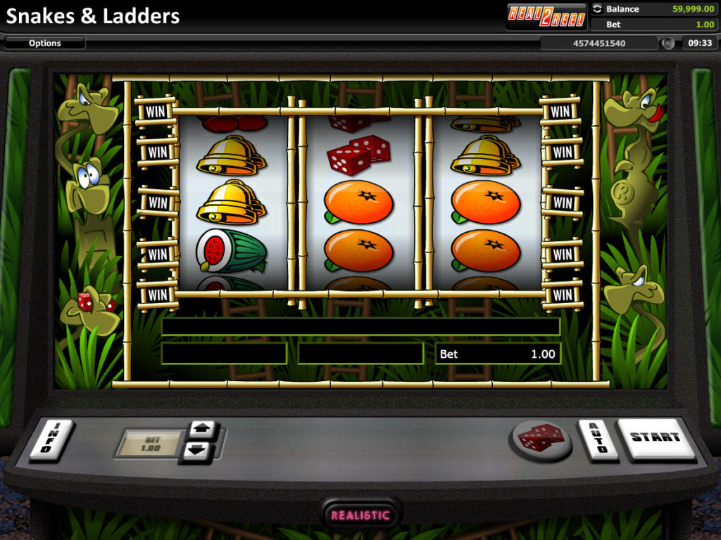 Zahrajte si online casino automat Snakes and Ladders