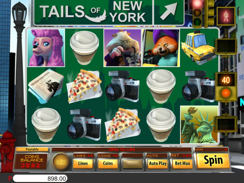 Online casino automat Tails of New York