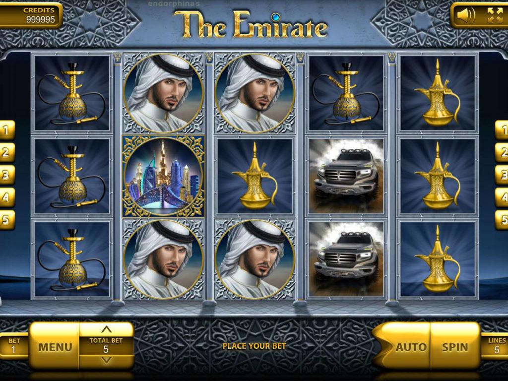 Roztočte online herní automat The Emirate