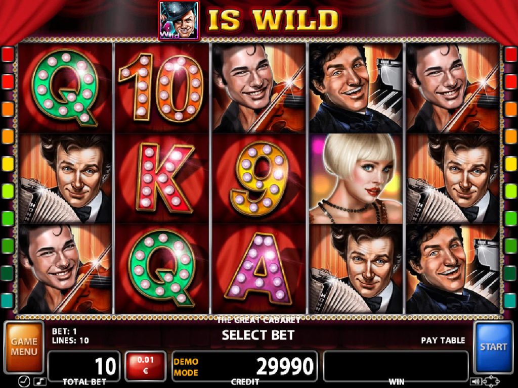 Casino automat The Great Cabaret zdarma, online