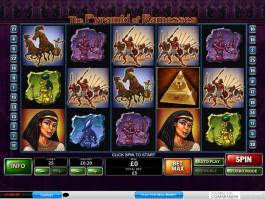 Online herní automat The Pyramid of Ramesses od vývojářské společnosti Playtech