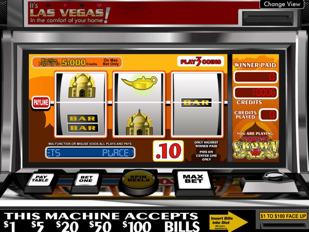 Online herní automat Triple Crown bez vkladu