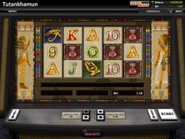 Obrázek z online casino automat Tutankhamun