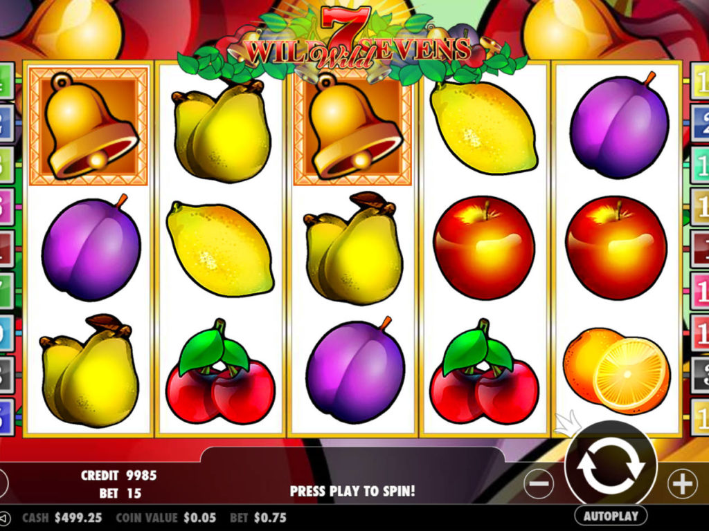 Online casino automat Wild Sevens