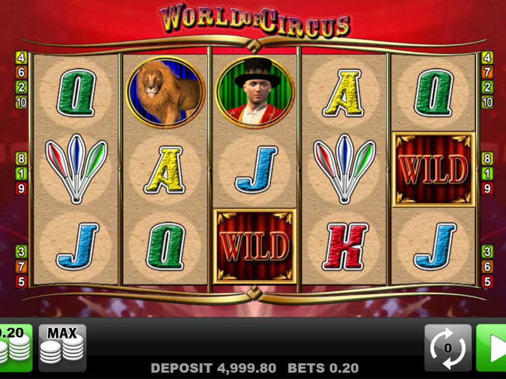Roztočte herní automat World of Circus