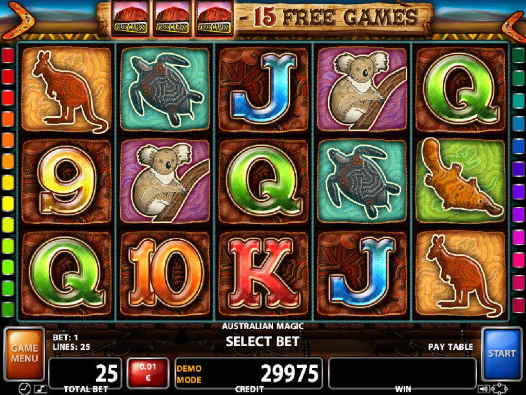 Herní automat Australian Magic zdarma, bez vkladu