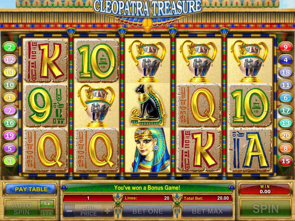 Zahrajte si casino automat Cleopatra Treasure zdarma, pro zábavu