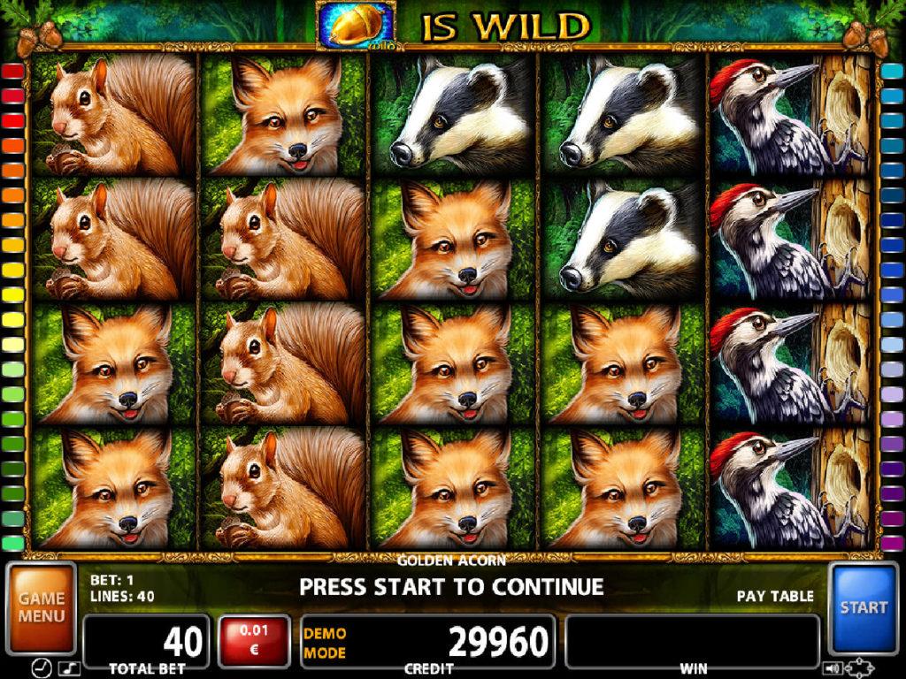 Zahrajte si casino automat Golden Acorn zdarma
