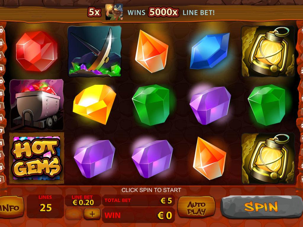 Zahrajte si online casino automat Hot Gems zdarma