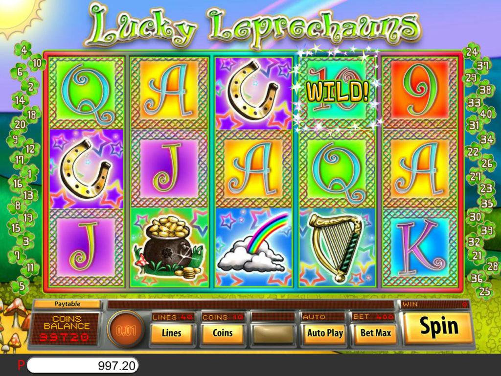 Online casino automat Lucky Leprechauns bez vkladu