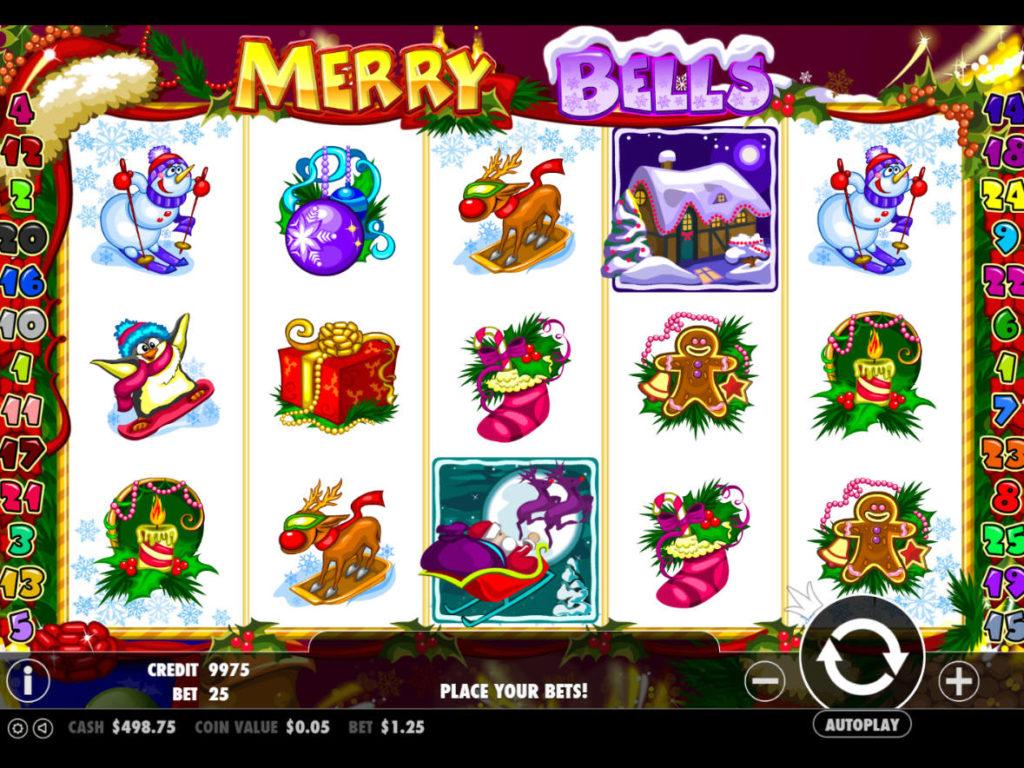 Herní automat Merry Bells zdarma, bez vkladu