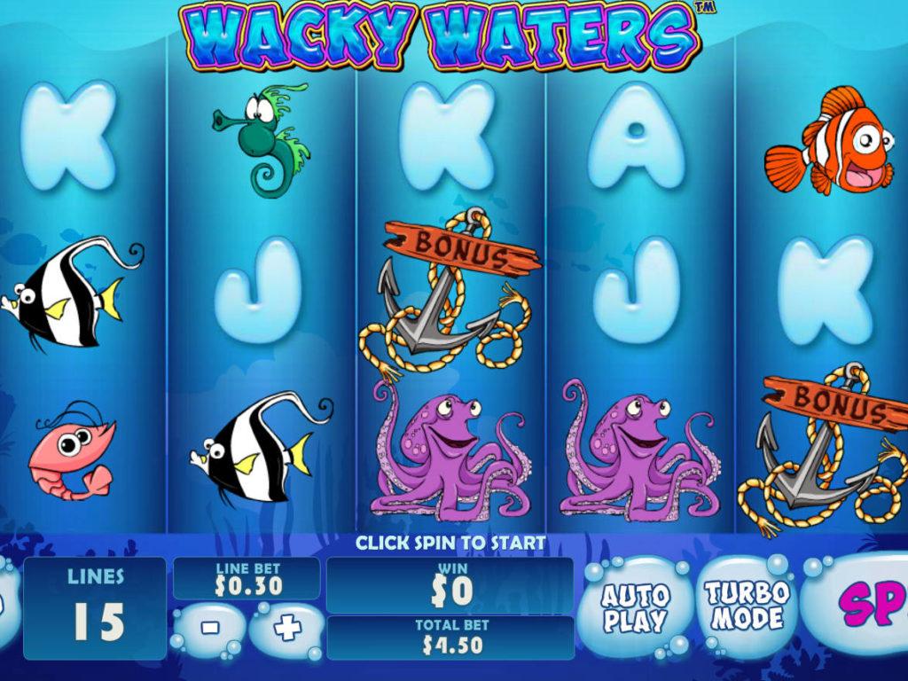Zahrajte si casino automat Wacky Waters zdarma, bez vkladu