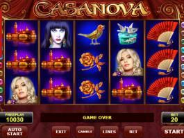 Obrázek z online herního automatu Casanova