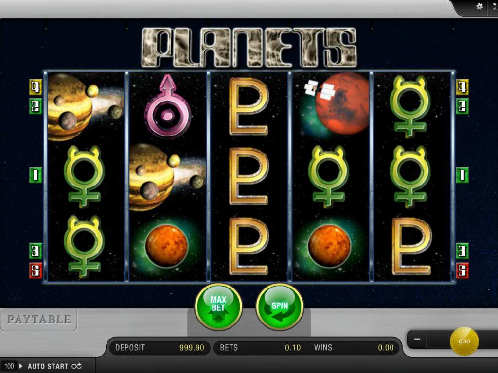 Online casino automat Planets od společnosti Merkur