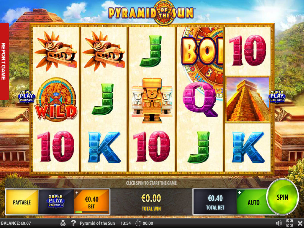 Casino automat Pyramid of the Sun zdarma