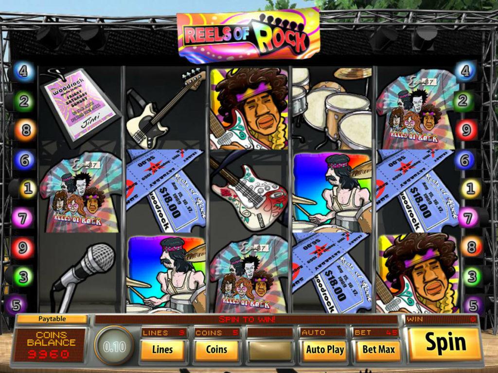 Online casino automat Reels of Rock zdarma