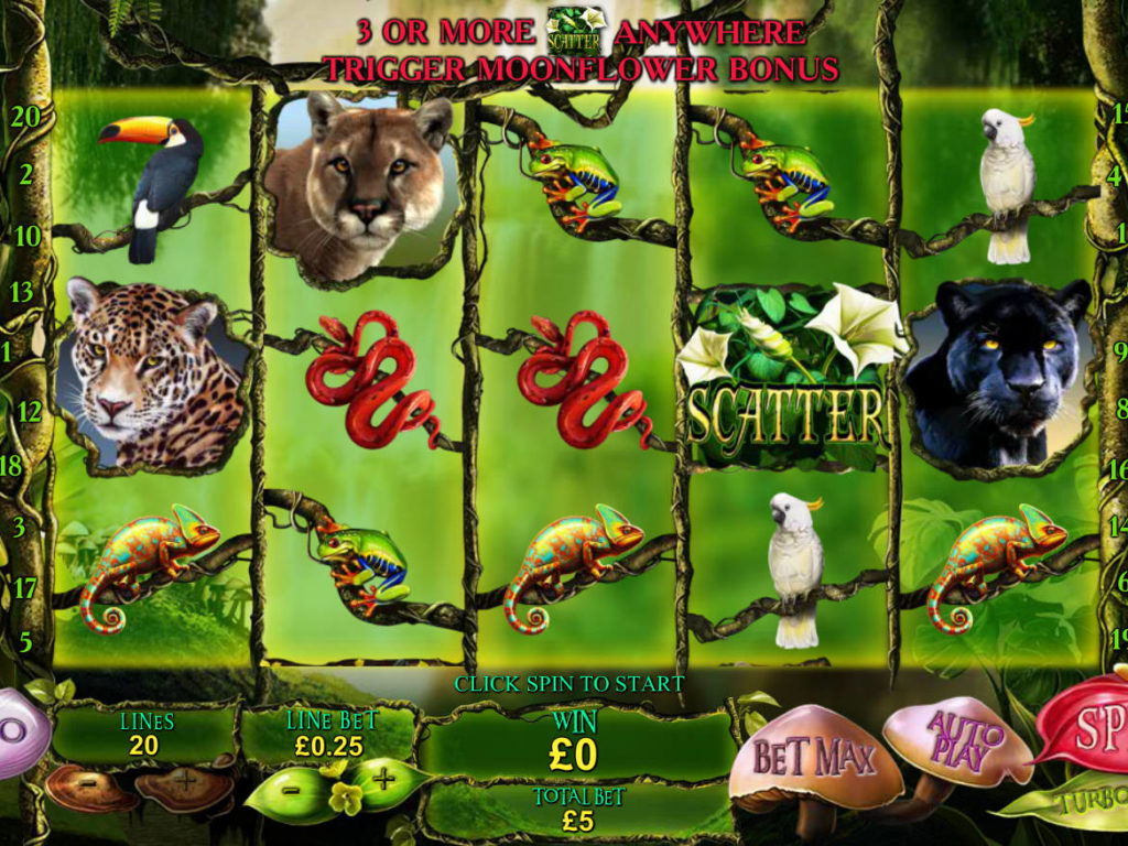 Casino automat Secrets of the Amazon zdarma