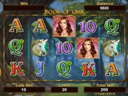 Online casino automat Book of Una bez vkladu