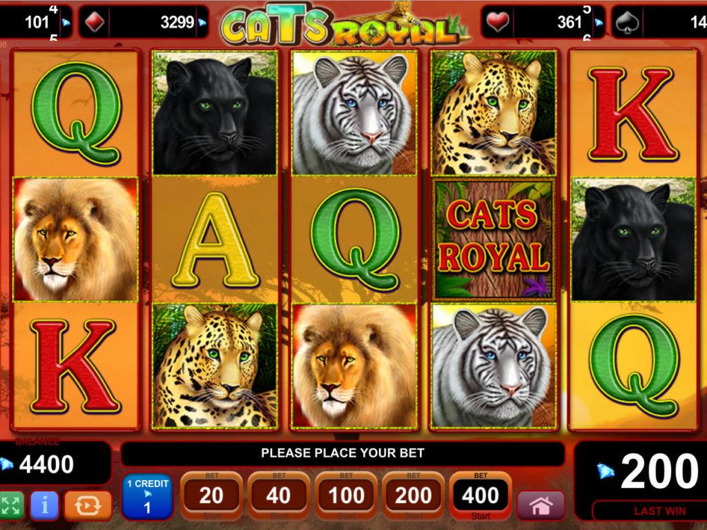 Online casino automat Cats Royal bez vkladu