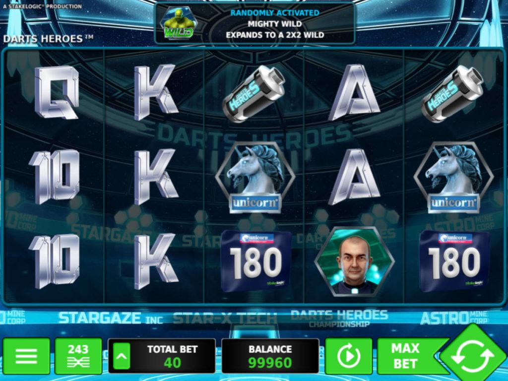 Zahrajte si online casino automat Darts Heroes zdarma