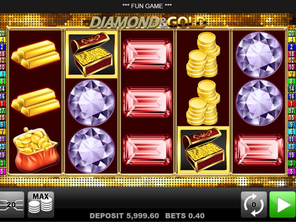 Herní automat Diamond and Gold bez vkladu
