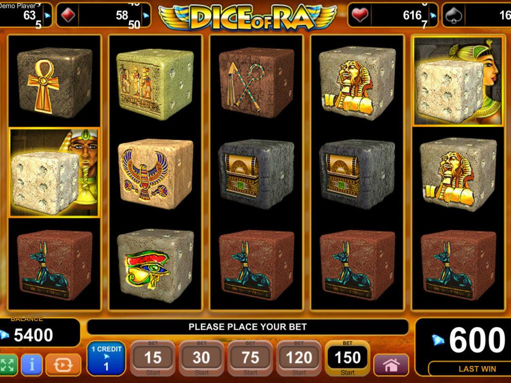 Casino automat Dice of Ra bez registrace