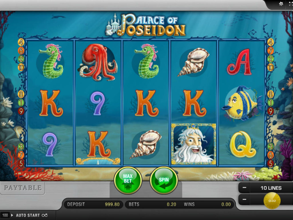 Online herní automat Palace of Poseidon zdarma