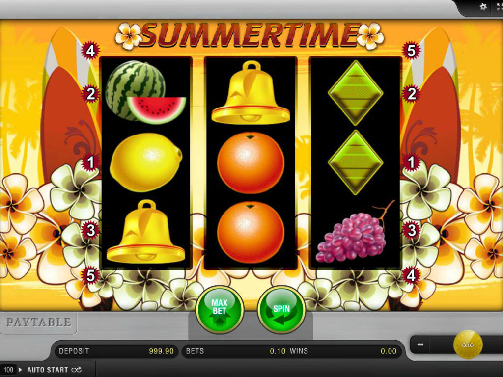 Casino automat Summertime zdarma