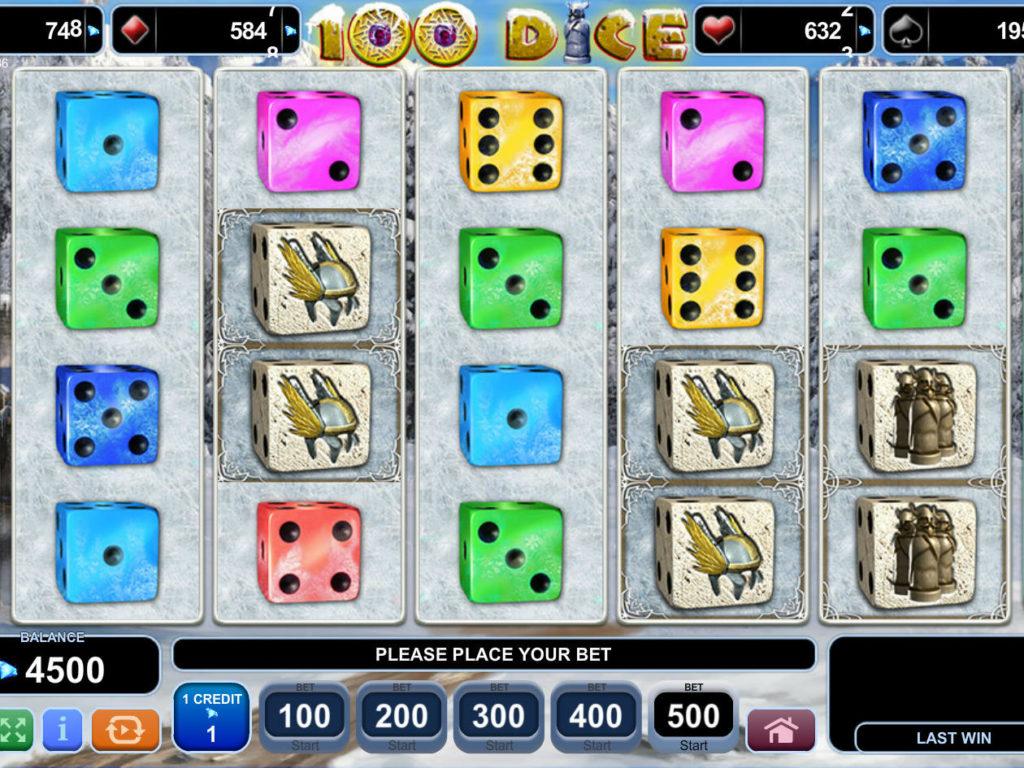 Obrázek z casino automatu 100 Dice