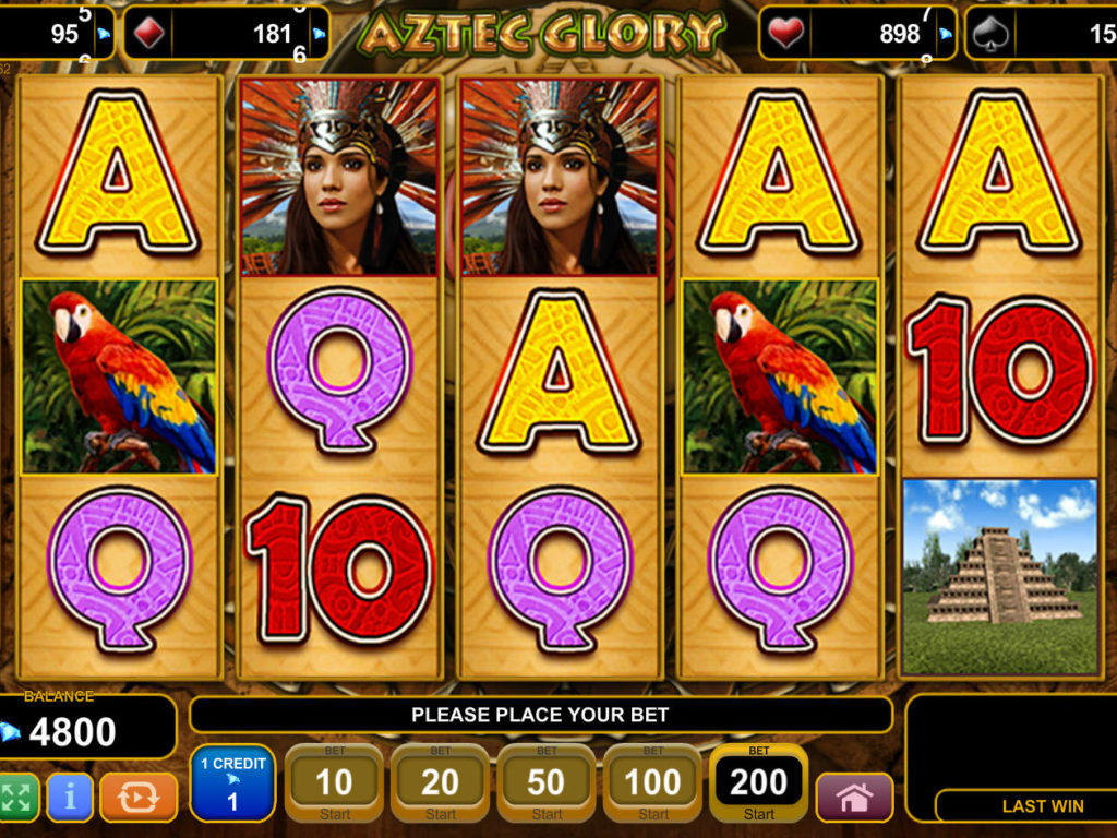 Online casino automat Aztec Glory bez vkladu