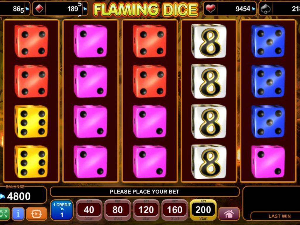 Casino automat Flaming Dice bez registrace