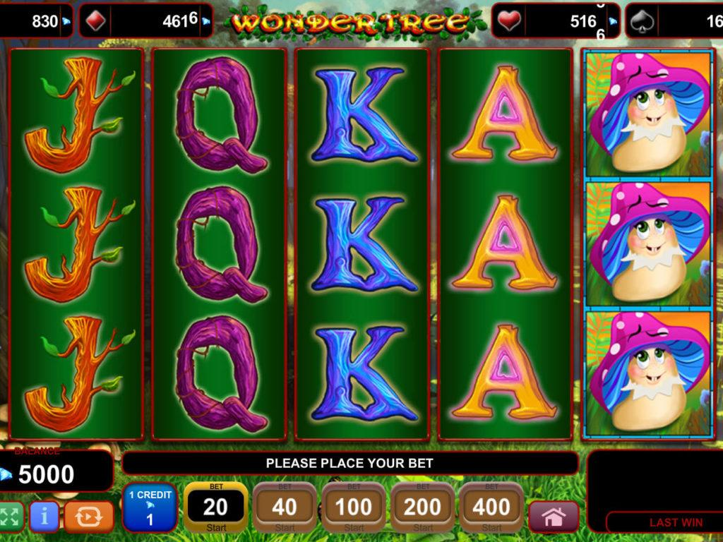 Online casino automat Wonder Tree zdarma