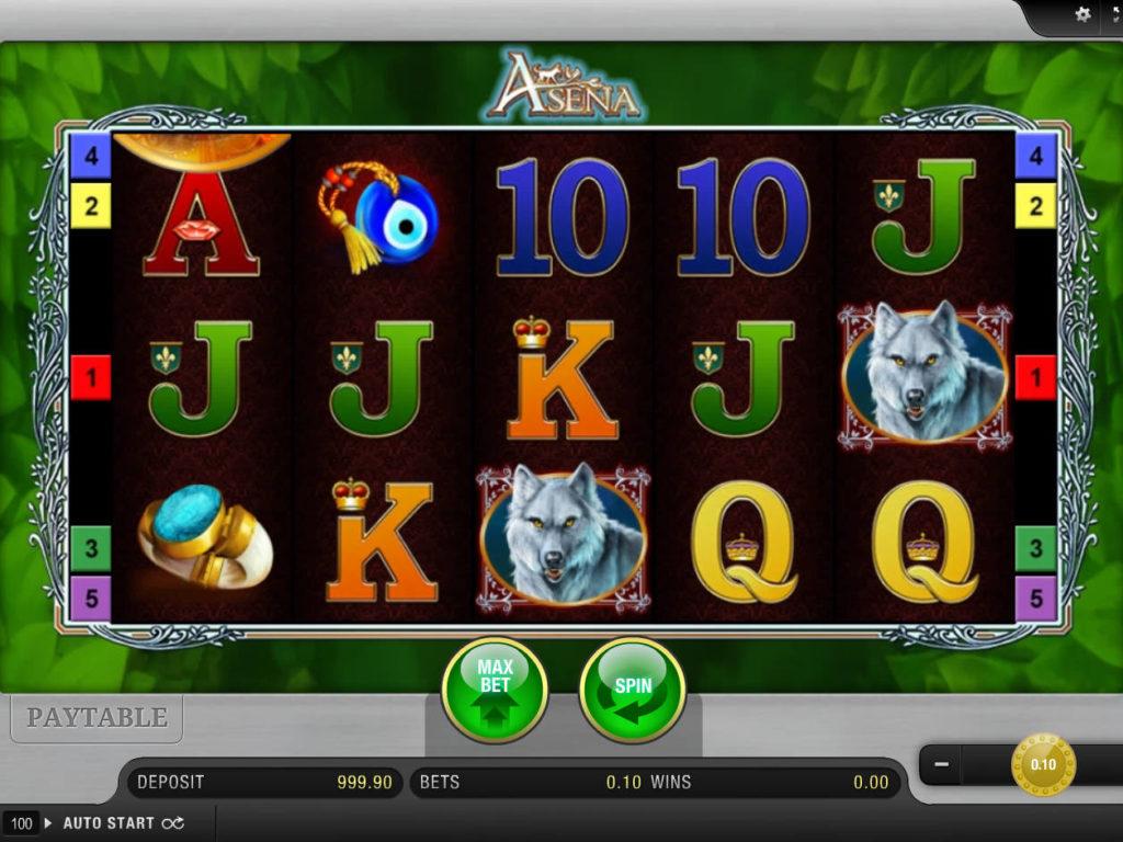 Zahrajte si zábavný casino automat Asena zdarma