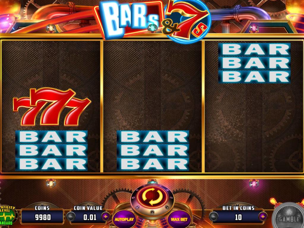 Zahrajte si zábavný casino automat Bar´s and 7´s