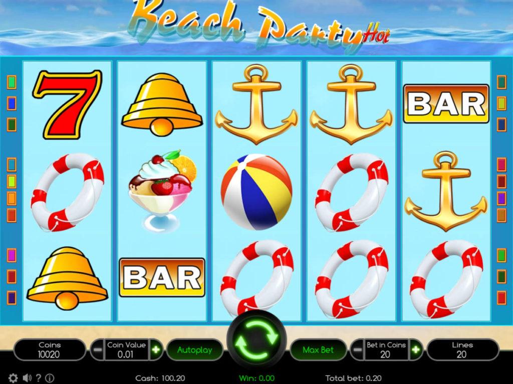 Casino automat Beach Party Hot bez vkladu