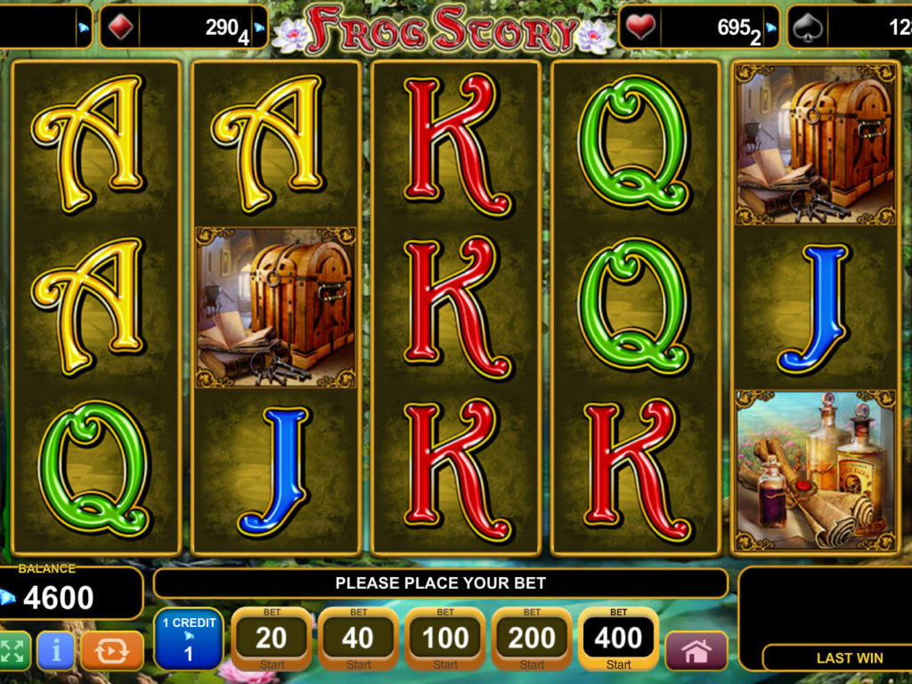 Online casino automat Frog Story bez registrace
