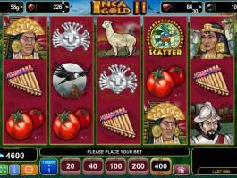 Zahrajte si online casino automat Inca Gold II zdarma