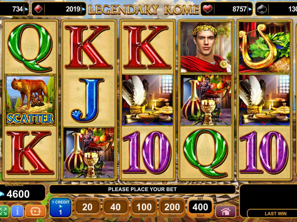 Online herní automat Legendary Rome zdarma