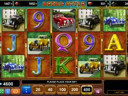 Roztočte casino automat Retro Style zdarma