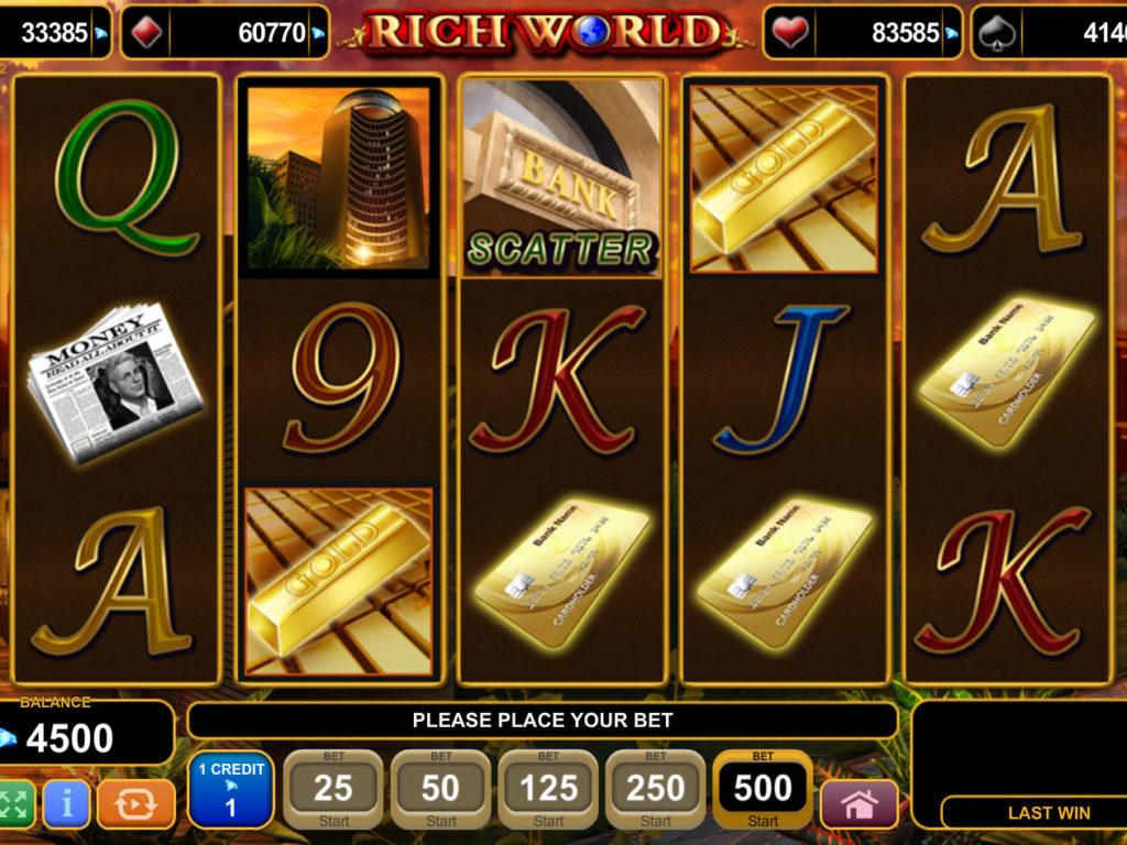 Casino automat Rich World bez registrace