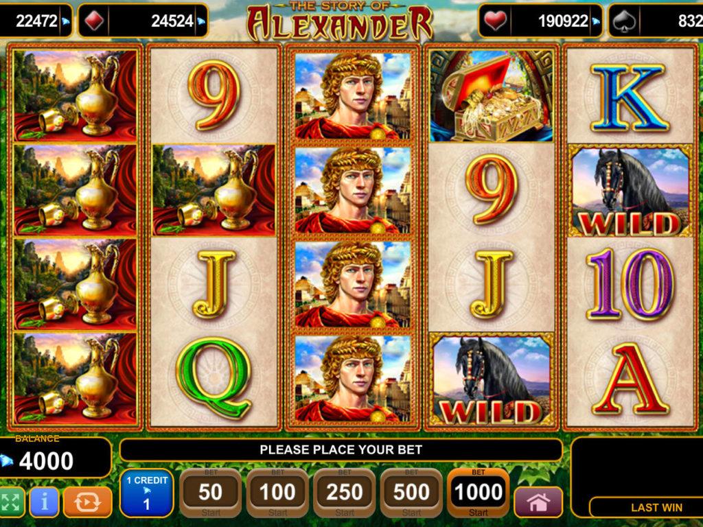 Casino automat The Story of Alexander zdarma, bez vkladu