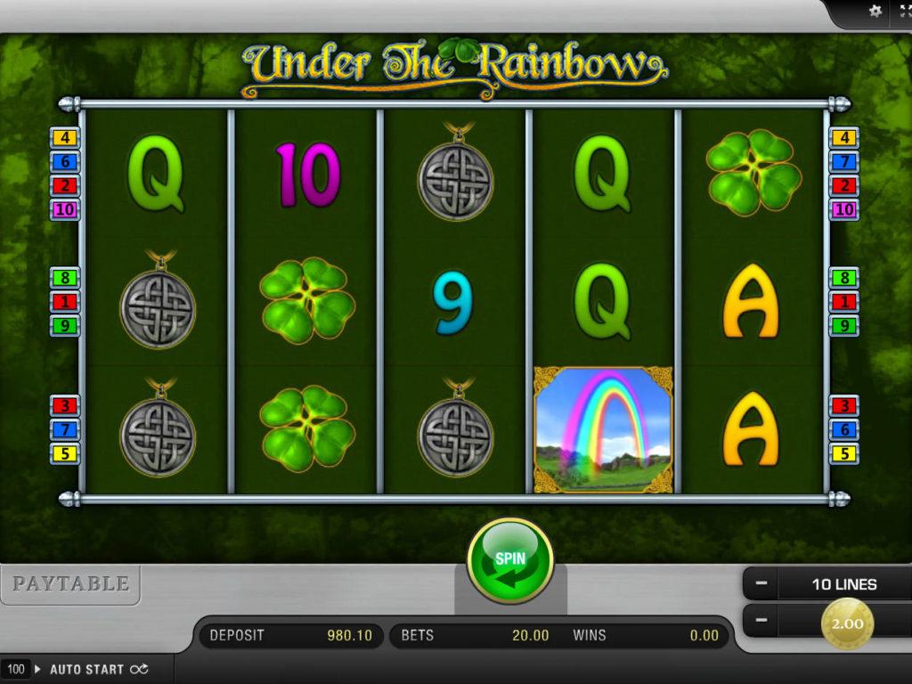 Zábavný casino automat Under the Rainbow